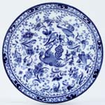 Burgess and Leigh Chinese Peacock Plate c1930s