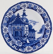 Burgess and Leigh Pagoda Plate c1930s
