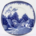 Burgess and Leigh Britain Beautiful Plate Cockington Forge c1933