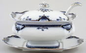Burgess and Leigh Hamilton grey Sauce Tureen c1910