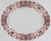 Burgess and Leigh Eaton pink with colour Meat Dish or Platter c1902