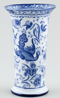 Burgess and Leigh Chinese Peacock Vase c1913