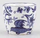 Burgess and Leigh Chinese Peacock Egg Cup c1930s