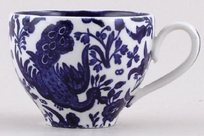Burleigh Blue Bird Coffee Cup c1980s