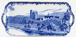 Burgess and Leigh Britain Beautiful Sandwich Tray Balmoral Castle c1930s