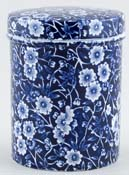 Burleigh Calico Canister small c1970