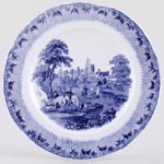 Cauldon Royal Castles Plate Windsor Castle c1930s