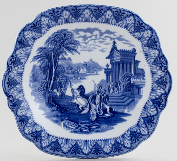 Cauldon Chariot Bread and Butter Plate c1930s