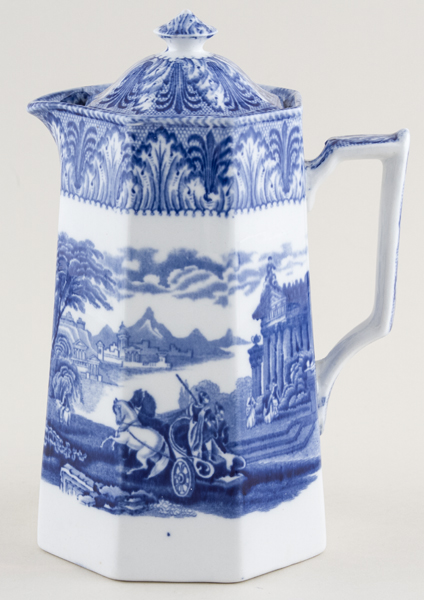 Cauldon Chariot Jug or Pitcher Hot Water  large c1930s