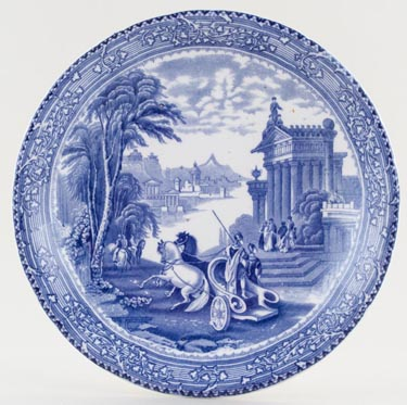 Unattributed Maker Arcadian Chariots Plate c1900