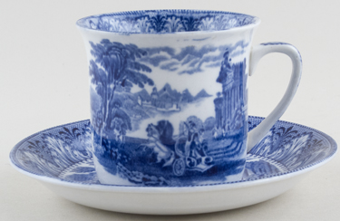 Cauldon Chariot Cup and Saucer c1930s