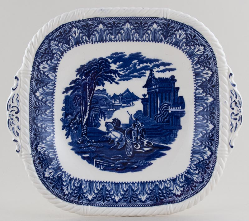 Cauldon Chariot Bread and Butter or Cake Plate c1950s