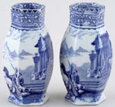 Unattributed Maker Arcadian Chariots Vases pair of small c1900