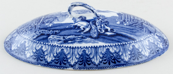 Cauldon Chariot Cover for Bacon Dish c1930s