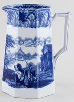 Cauldon Chariot Jug or Pitcher octagonal c1930s