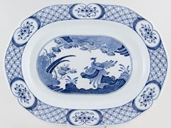 Furnivals Old Chelsea Meat Dish or Platter large c1930s