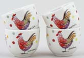 Queens Alex Clark Rooster colour Egg Cups Set of 4