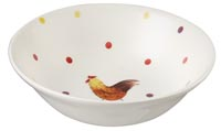 Queens Alex Clark Rooster colour Cereal Bowl