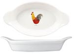 Queens Alex Clark Rooster colour Handled Dish oval ovenproof