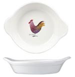 Queens Alex Clark Rooster colour Handled Dish round ovenproof