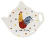 Queens Alex Clark Rooster colour Tea Bag Tidy/Spoon Rest