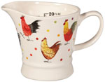 Queens Alex Clark Rooster colour Measuring Jug