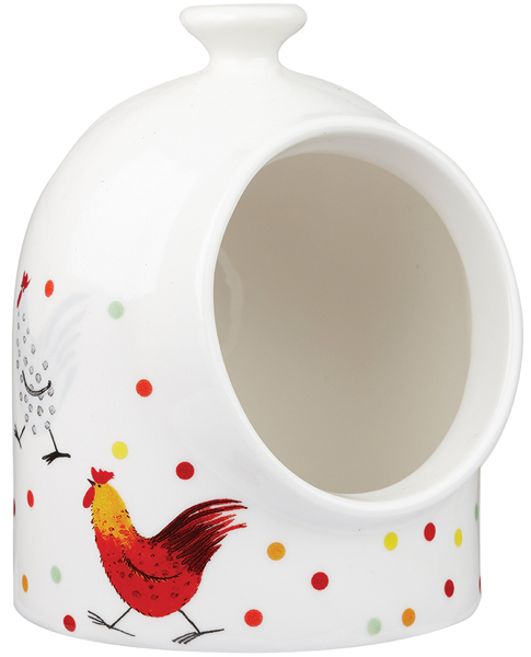 Queens Alex Clark Rooster colour Salt Pig