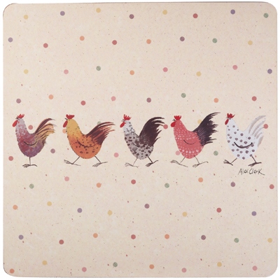 Queens Alex Clark Rooster colour Placemats Pack of Four
