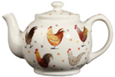 Queens Alex Clark Rooster colour Teapot
