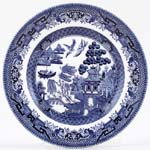 Churchill Blue Willow Side or Cheese Plate