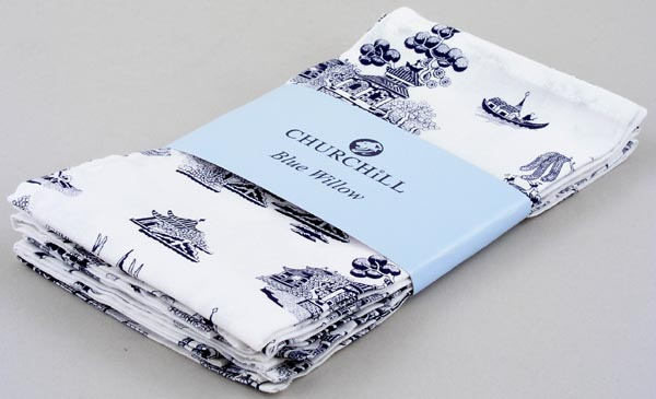 Churchill Blue Willow Napkins set of 4