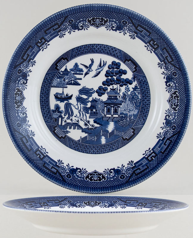 Churchill Blue Willow Pasta Plate