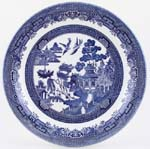 Churchill Blue Willow Meat Dish or Platter round