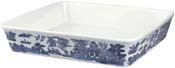 Churchill Blue Willow Dish square ovenproof