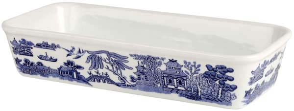 Churchill Blue Willow Dish rectangular ovenproof