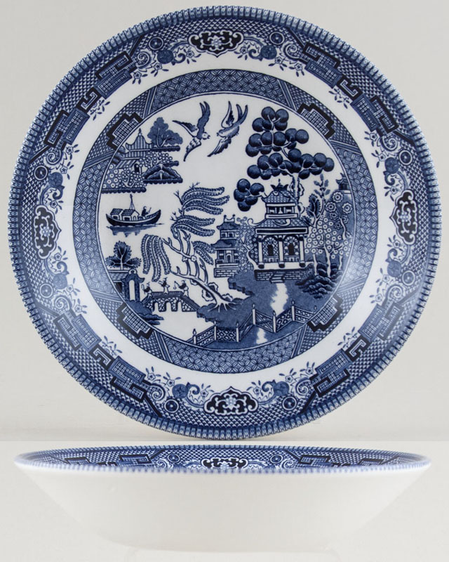 Churchill Blue Willow Dessert or Soup Bowl