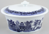 Churchill Blue Willow Casserole round ovenproof