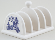 Churchill Blue Willow Toast Rack