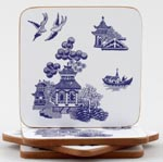 Churchill Blue Willow Coasters set of 4