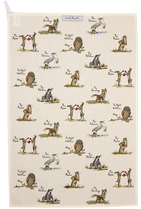 Queens Country Pursuits Tea Towel