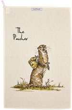 Queens Country Pursuits Tea Towel The Poacher