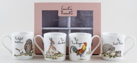Queens Country Pursuits Mugs Set of Four