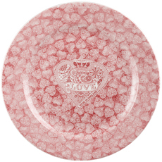 Queens Made with Love pink Charger or Platter