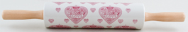 Queens Made with Love pink Rolling Pin