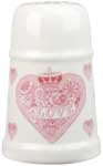 Queens Made with Love pink Flour Dredger