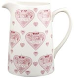 Queens Made with Love pink Jug or Pitcher Tankard large