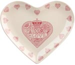 Queens Made with Love pink Plate heart
