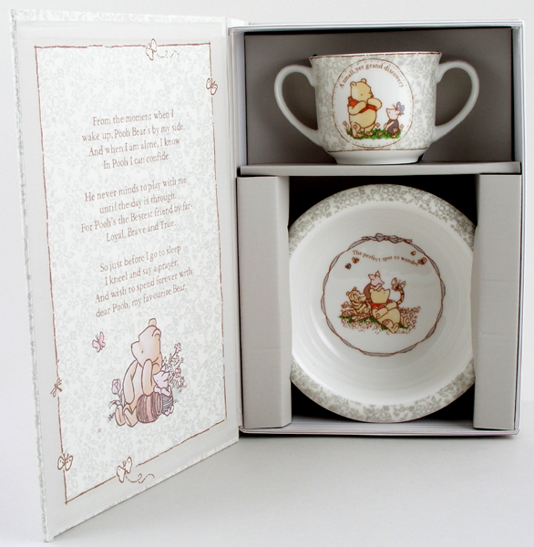 Churchill Winnie the Pooh colour Mug and Porringer Set