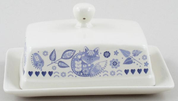 Queens Penzance Butter Dish with Cover