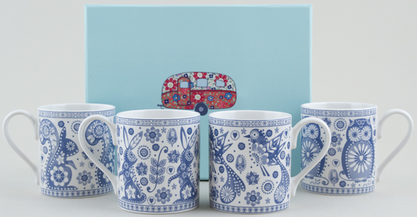 Queens Penzance Mug Set of 4